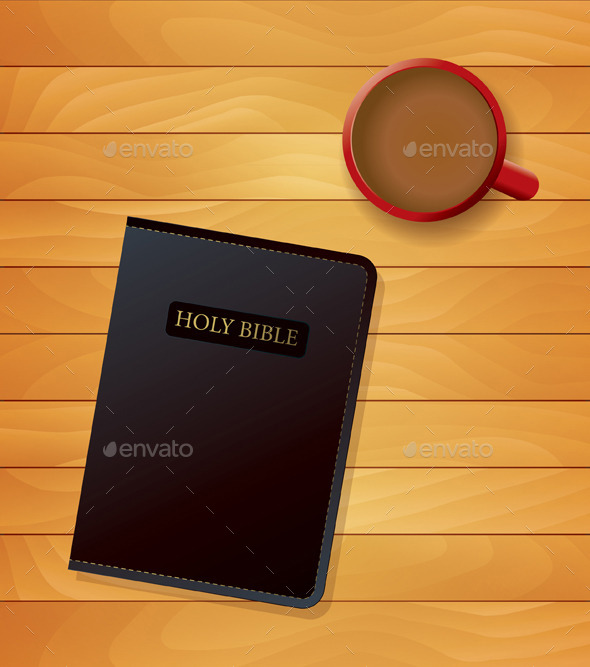 GraphicRiver Bible and Coffee Devotional Concept 10445067