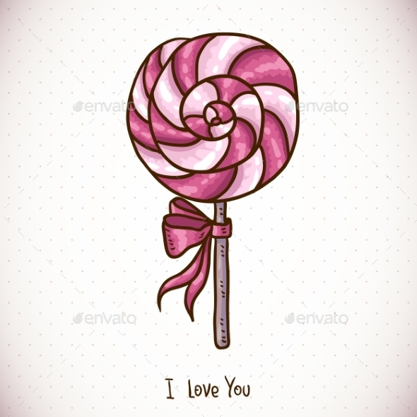 GraphicRiver Greeting Card with Candy Lollipop 10445106