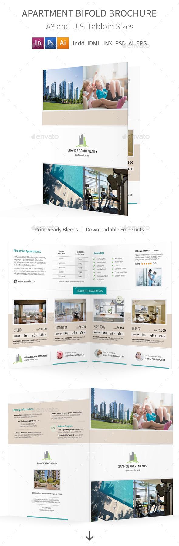 GraphicRiver Apartment Real Estate Bifold Halffold Brochure 10445130