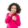 Little girl eating yogurt - PhotoDune Item for Sale