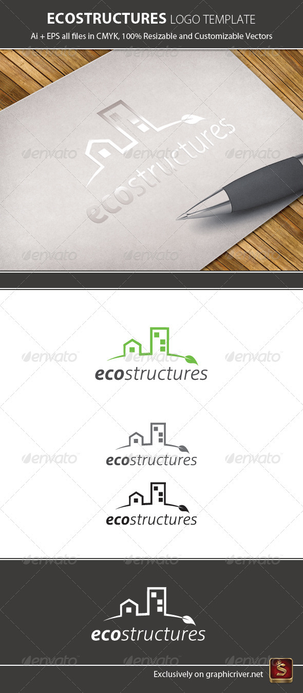 Ecology Logo Template - Buildings Logo Templates