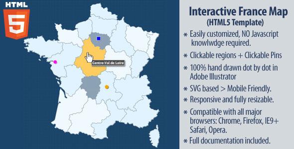 CodeCanyon Interactive Map of France HTML5 10445686