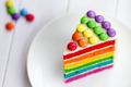 Slice of rainbow cake - PhotoDune Item for Sale