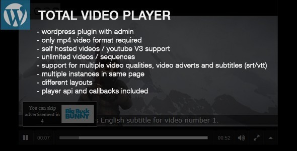 CodeCanyon Total Video Player Wordpress Plugin 10446113