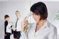 Upset business lady with phone tube in office - PhotoDune Item for Sale