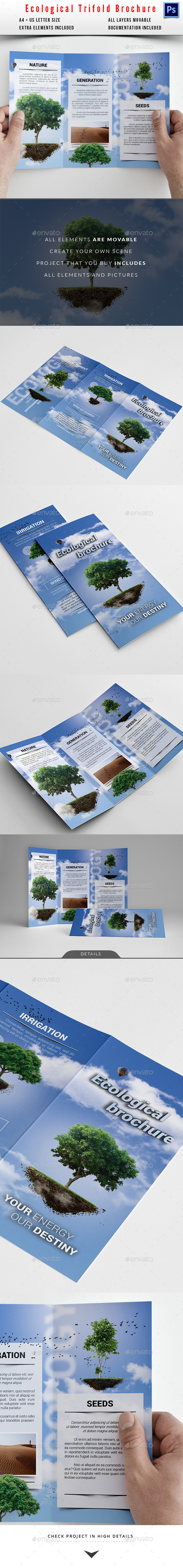 GraphicRiver Eco Cloud Trifold Brochure 10389713