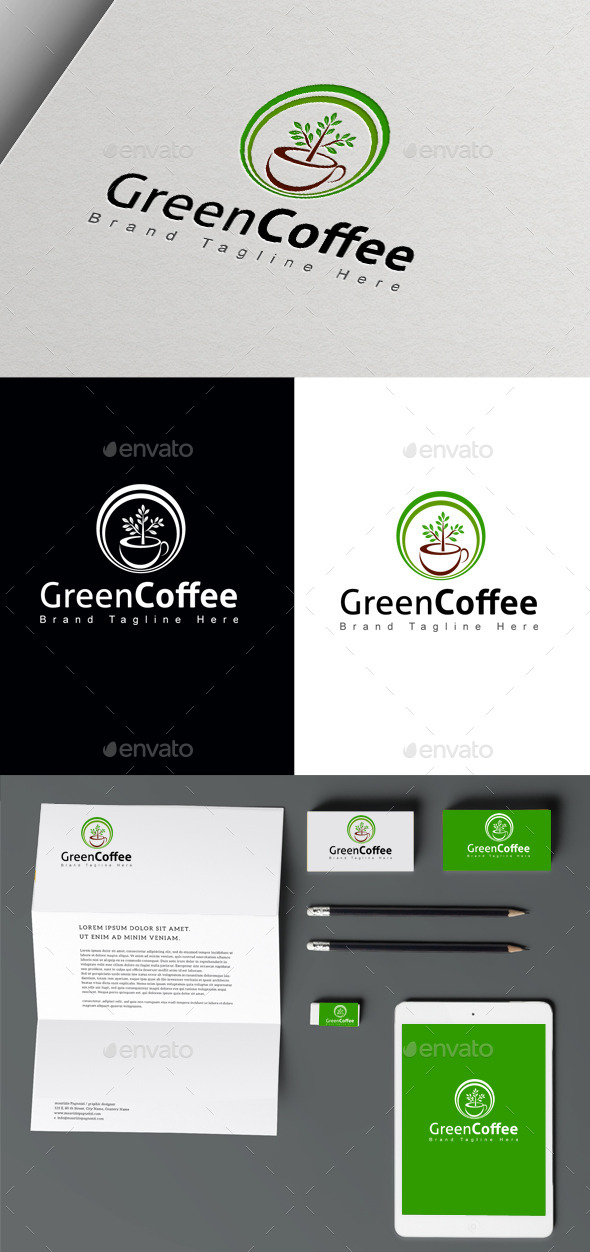GraphicRiver Green Coffee 10446182