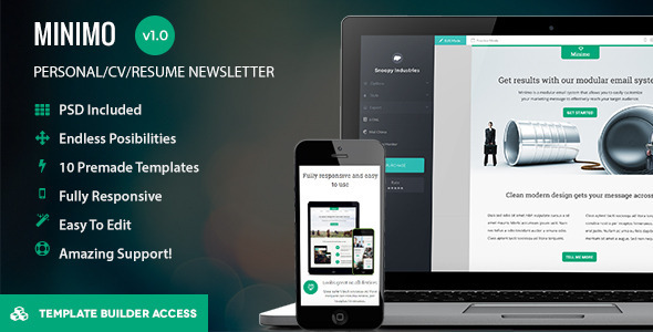 ThemeForest Minimo Responsive Email & Drag&Drop Builder 10446994