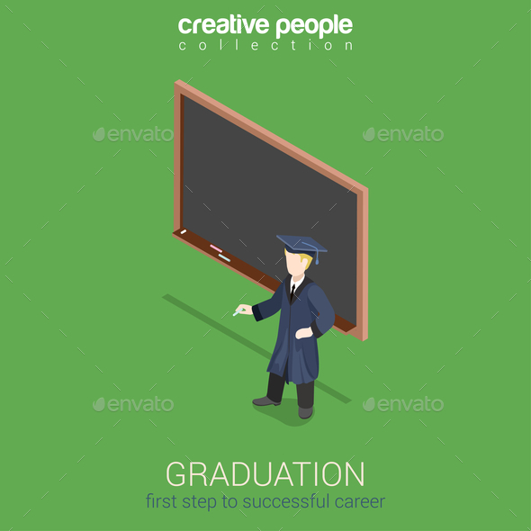 GraphicRiver Graduation Learning Infographic 10447248