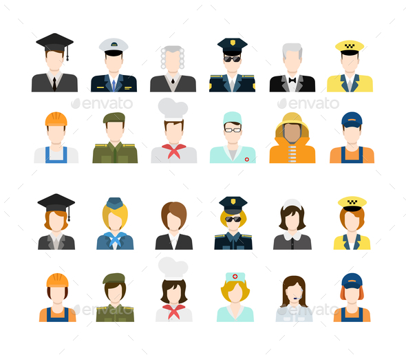 GraphicRiver Set of People Icons 10447288