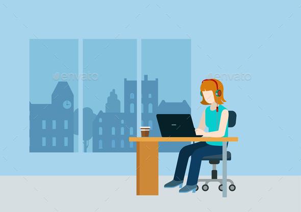 GraphicRiver Female Web Designer 10447296