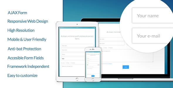 CodeCanyon Vanilla Form Modern & Responsive Contact Form 10447733