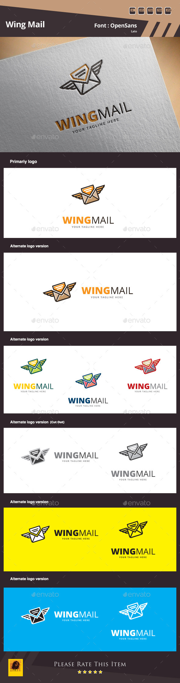 GraphicRiver Wind Mail Logo Template 10447783