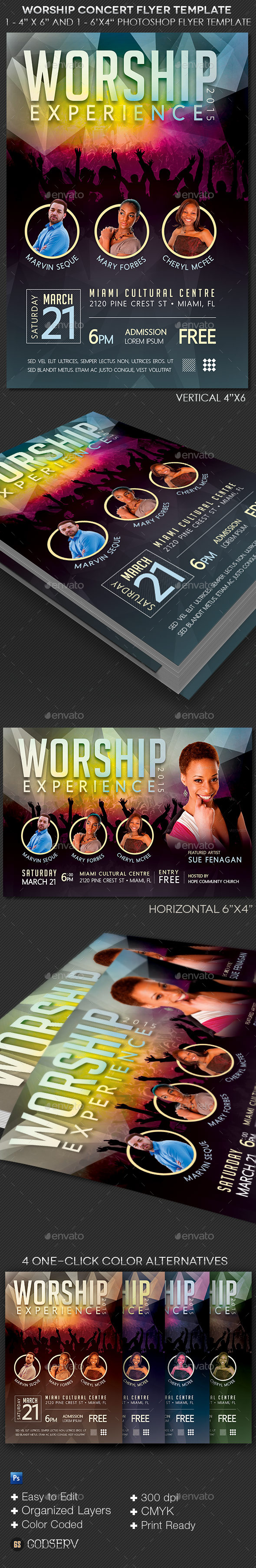 GraphicRiver Worship Concert Flyer Template 10447794