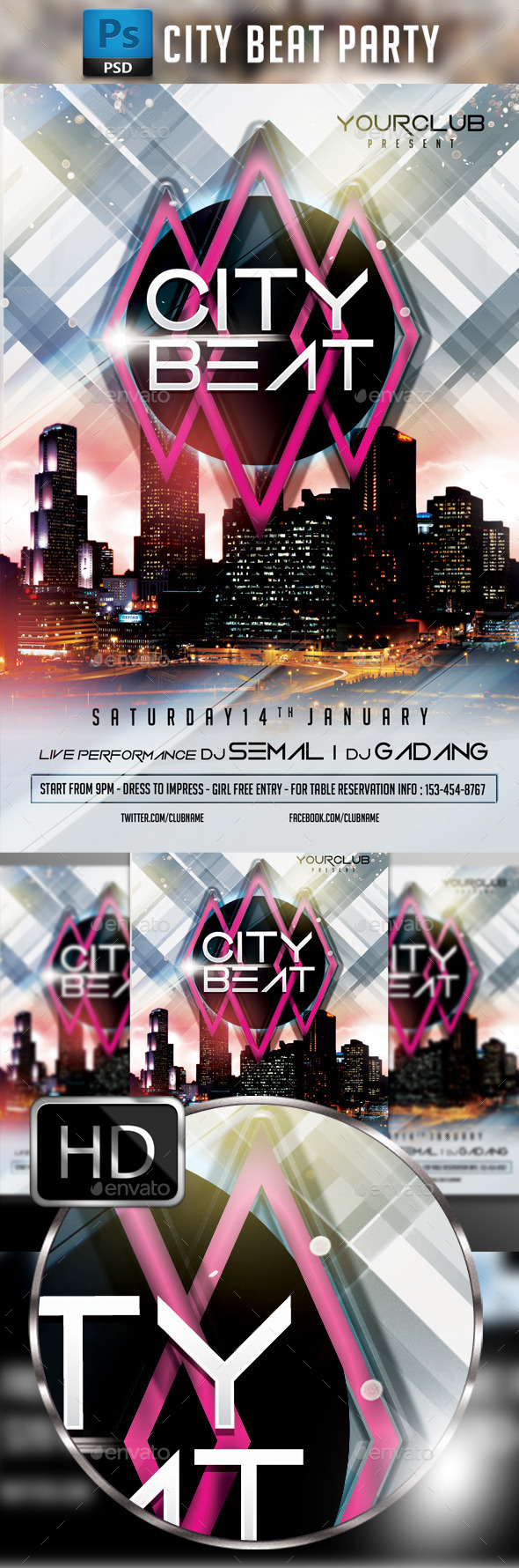 GraphicRiver City Beat Party 10447915