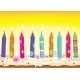 Burning Candles on the Cake - GraphicRiver Item for Sale