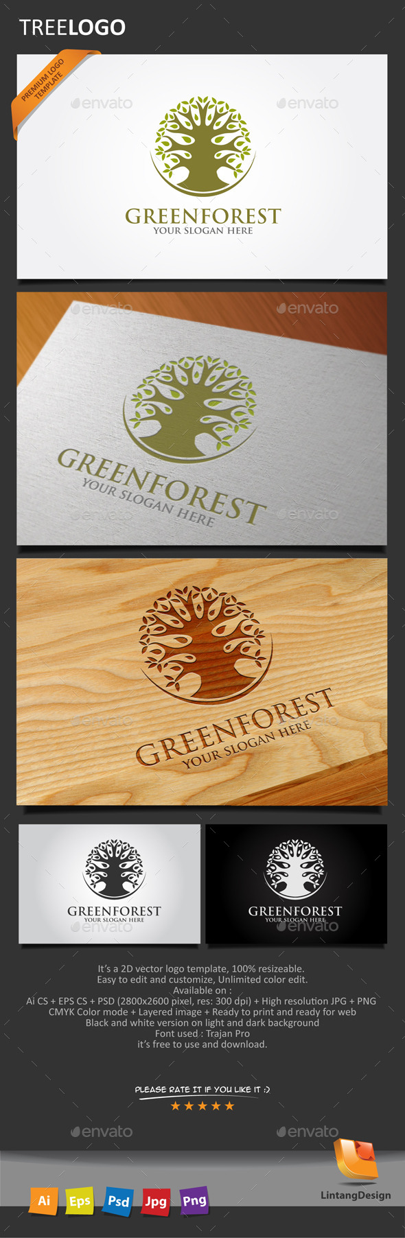 GraphicRiver Tree Logo 004 10447973