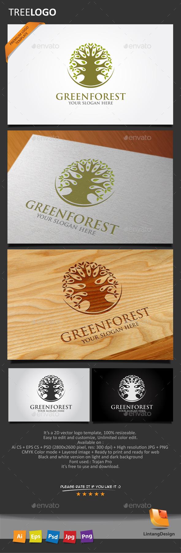 GraphicRiver Tree Logo 004 10447973