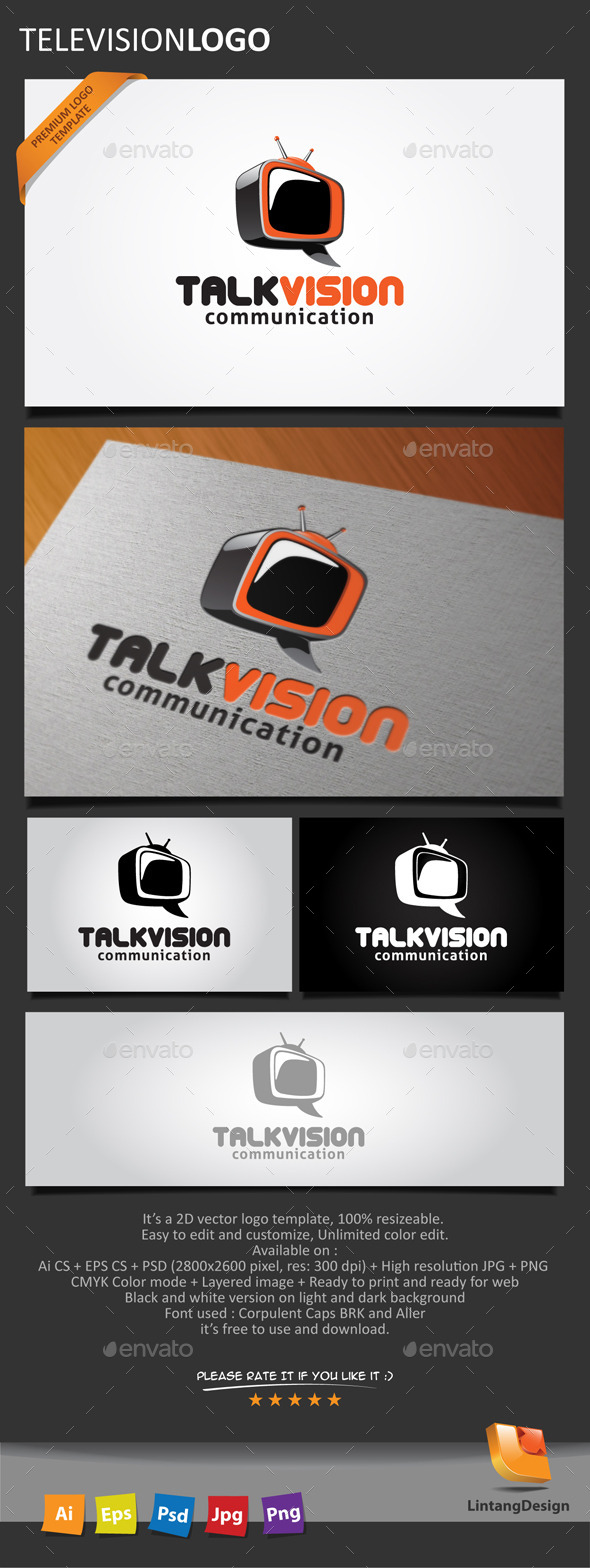 GraphicRiver Television Logo 10448085
