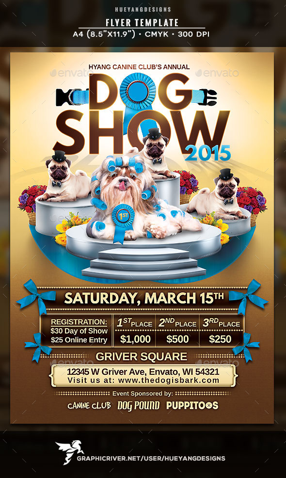 GraphicRiver Dog Show Flyer 10448156
