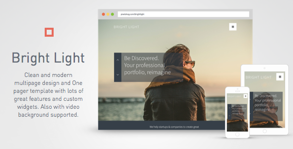 Bright Light Multipurpose Creative Template One Pager & Multipage