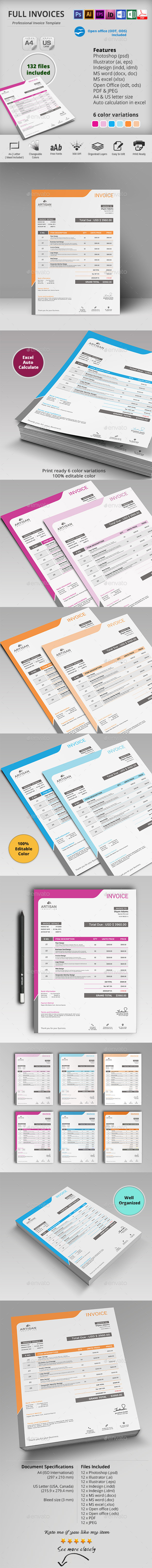 GraphicRiver Full Invoice 10448707