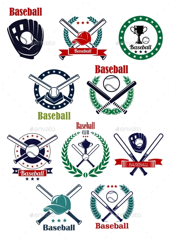 GraphicRiver Baseball Club and Game emblems 10448733