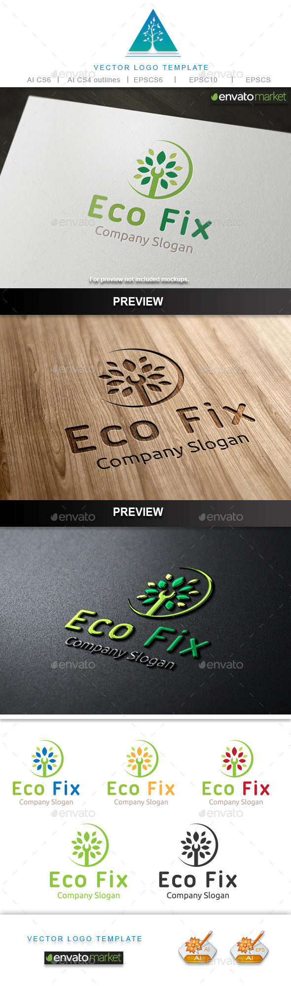 GraphicRiver Eco Fix Logo 10448792