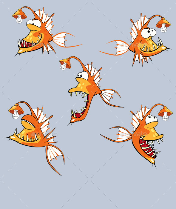 GraphicRiver Fish Cartoon 10448796