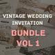 Vintage Wedding Invitation Bundle Vol. 1 - GraphicRiver Item for Sale