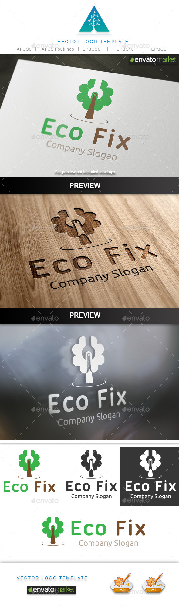 GraphicRiver Eco Fix 2 Logo 10448851