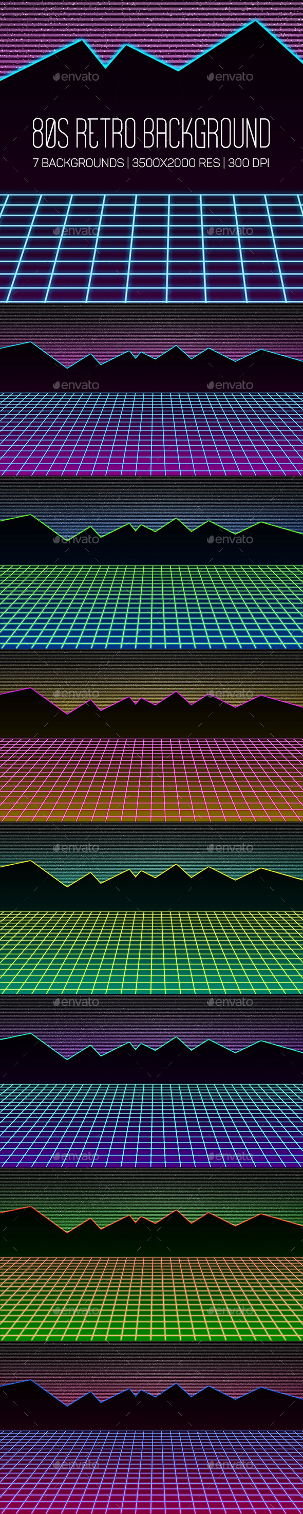 GraphicRiver 80s Retro Background 10448875