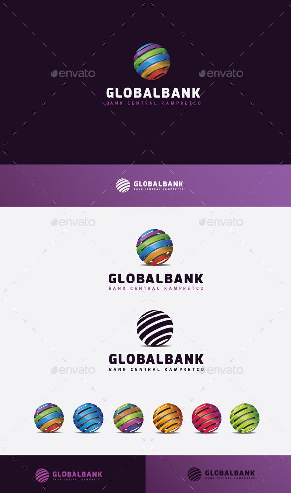 GraphicRiver Global Bank Logo 10448879