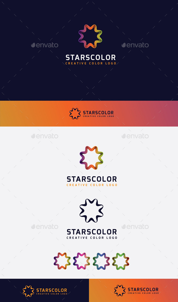 GraphicRiver Stars Colorful Logo 10448883