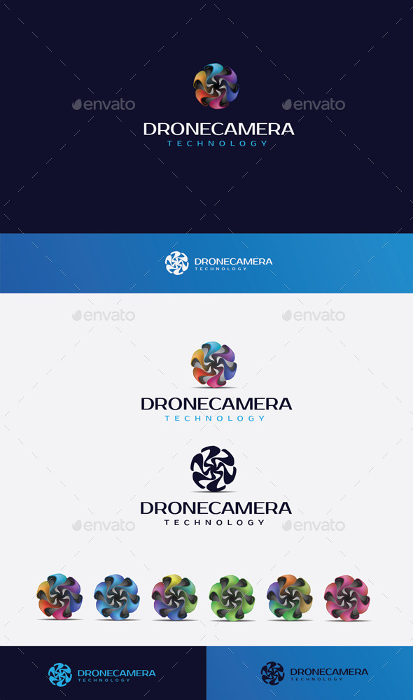 GraphicRiver Drone Camera Logo 10448889