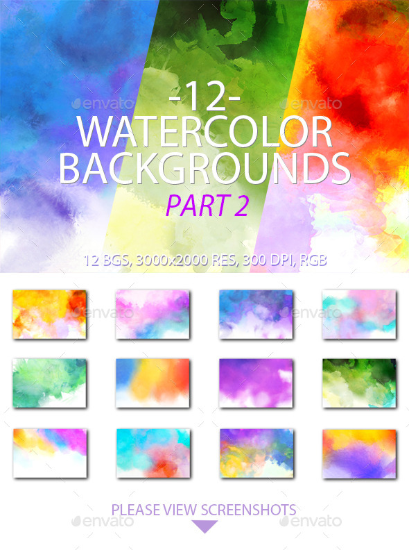 GraphicRiver Watercolor Backgrounds Part 2 10448986
