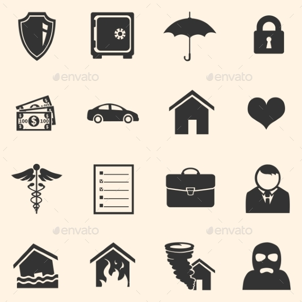 GraphicRiver Vector Set of Insurance Icons 10449575