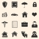 Vector Set of Insurance Icons - GraphicRiver Item for Sale