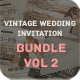 Vintage Wedding Invitation Bundle Vol. 2 - GraphicRiver Item for Sale
