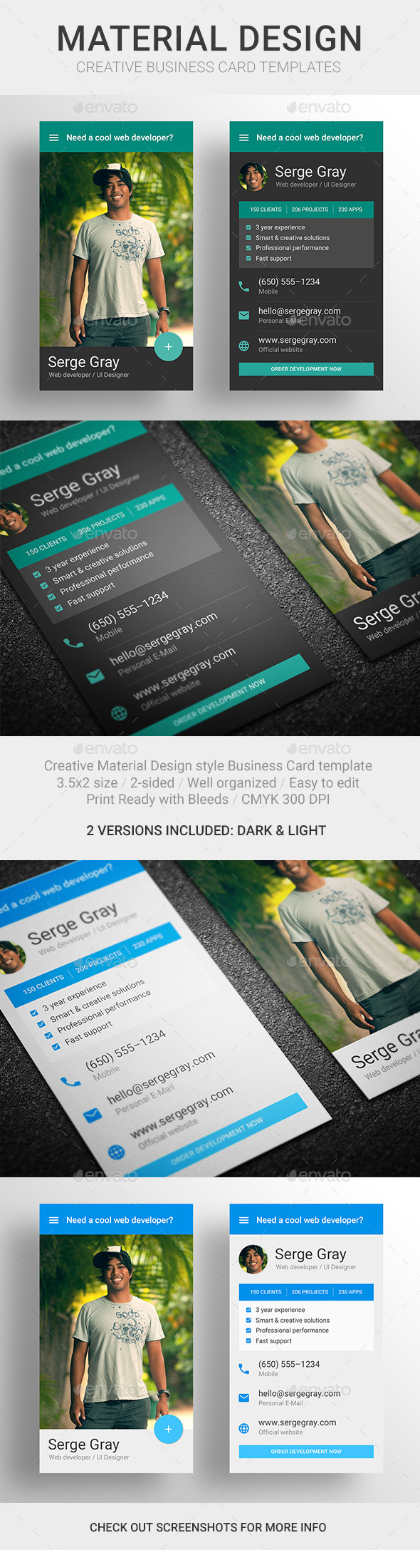 GraphicRiver MaDe Material Design Business Card Template 10449582
