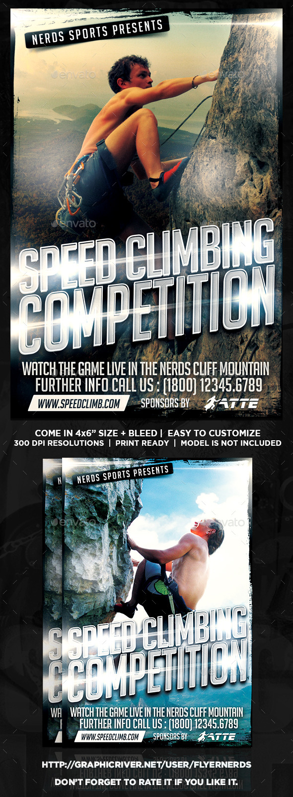 GraphicRiver Speed Climbing 2K15 Competition Sports Flyer 10449836