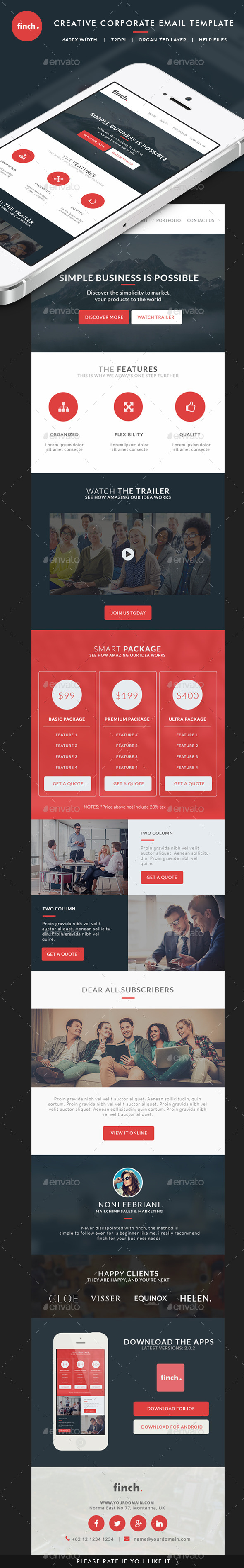 GraphicRiver Corporate Email Template finch 10450052