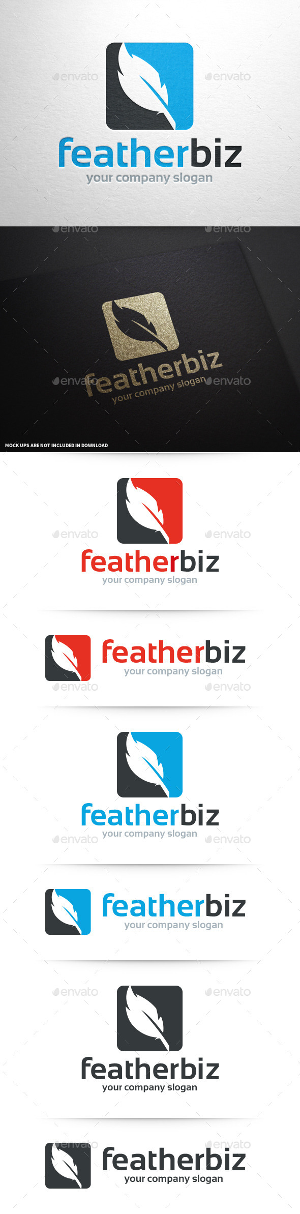GraphicRiver Feather Business Logo Template 10450296