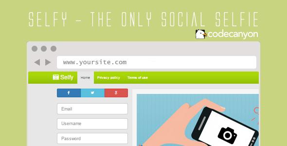 CodeCanyon Selfy Social Selfie Script 10450536
