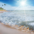 view of the sea, blue sky and sun - PhotoDune Item for Sale