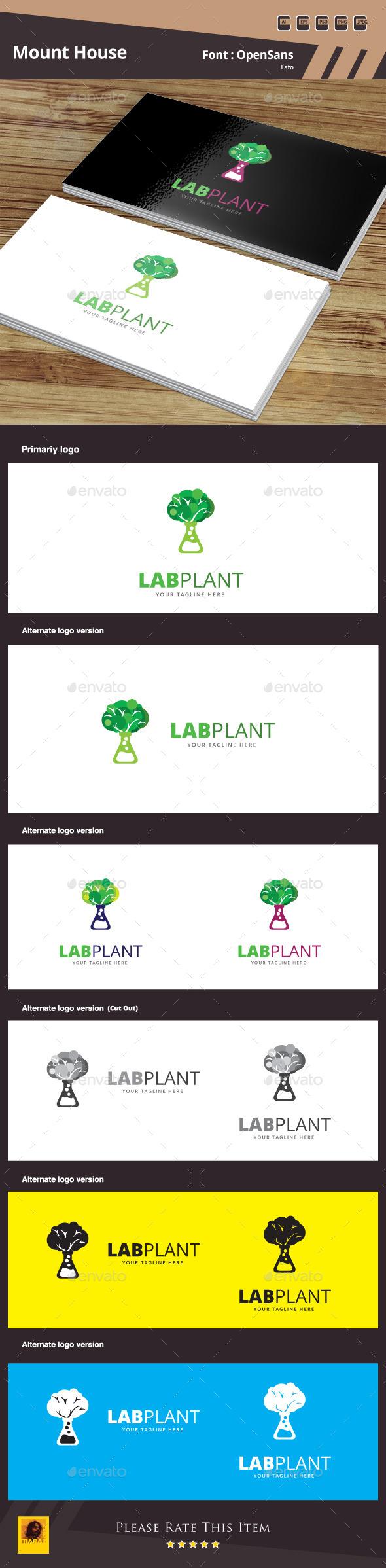 GraphicRiver Lap Plant Logo Template 10450765