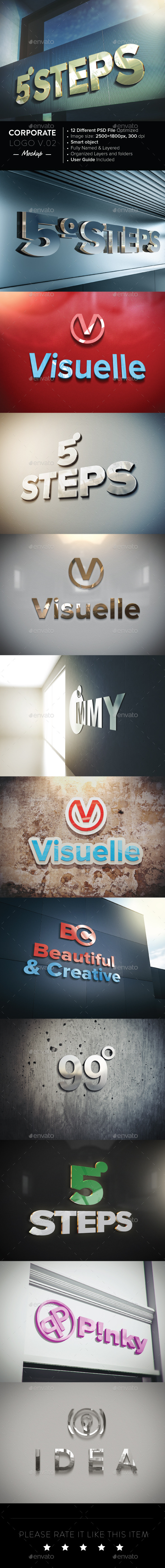 GraphicRiver Corporate Logo Mockup V.0.2 10450838