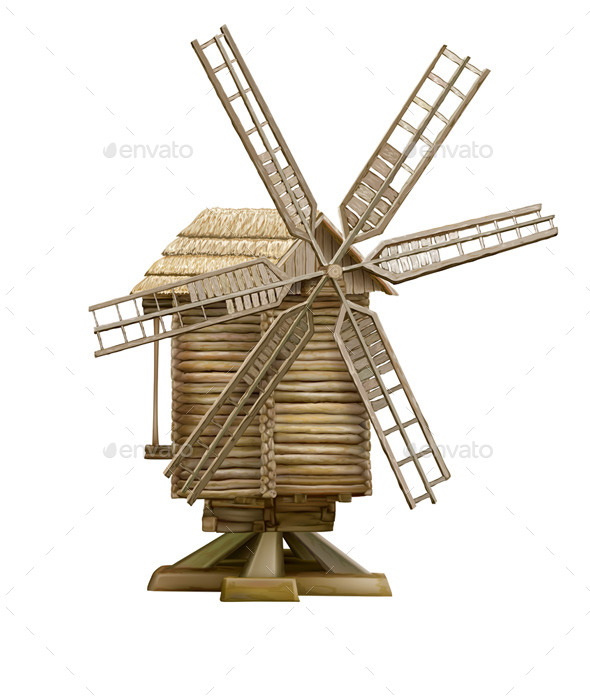 GraphicRiver Wooden Windmill 10451385