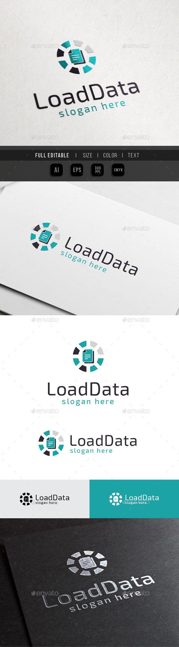 GraphicRiver Database Loading Cloud Data 10451407