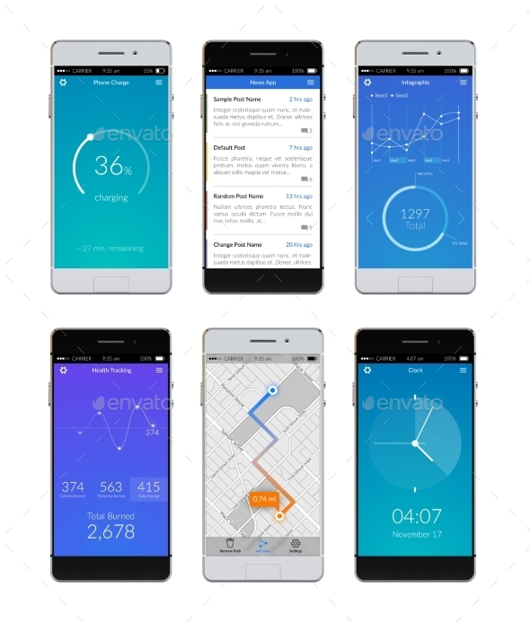 GraphicRiver Smartphone Ui Set 10451414